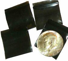 100 Black Apple Baggies 125 X 1 Mini Zip Bags 12510 Reclosable Plastic