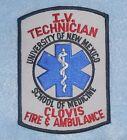 Univ of New Mexico School of Medicine IV Technician Patch - Clovis  Ambulance