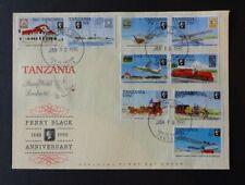 Tansania 3 FDC 1991 - 150 Jahre Briefmarken