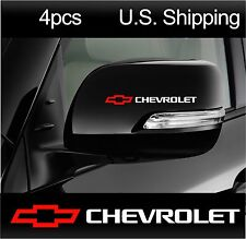 4 CHEVY Chevrolet Sticker Decals Wing Mirror Door Handle Wheels Camaro WHITE-red