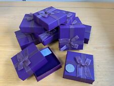 12 Luxury Purple Jewellery Gift Box Bracelet Necklace Joblot with inserts