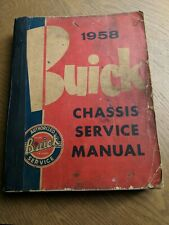 1958 Buick chassis service manual authorized Buick Service