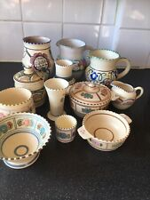 More details for 12 pieces honiton pottery
