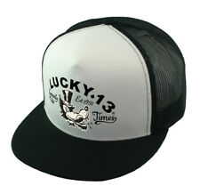 Lucky 13 snapback Hat Trucker Cap Mr. Wolf good times Hot Rod Kustom Kulture