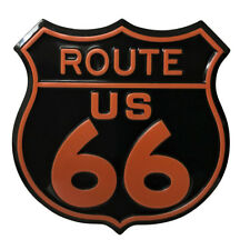 ROUTE 66 METAL MAGNET SIGN TIN SHIELD PLAQUE GIFT VINTAGE SHABBY CHIC USA US