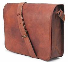 18x13 School College leather Laptop Briefcase Shoulder Art Carry Formal Use Bag