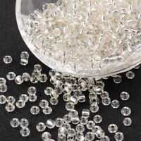 LOT DE 500 PERLES DE ROCAILLE TRANSPARENT Ø 4 mm 6/0 - CREATION BIJOUX