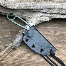 Custom Handmade Black Carbon Fiber Kydex Sheath For ESEE Izula Fixed Blade Knife