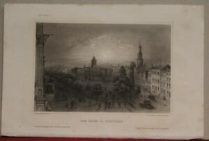 NEW YORK CITY CENTRAL PARK UNITED STATES 1852 MEYER ANTIQUE STEEL ENGRAVED VIEW