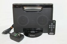 Sony iPod iPhone Docking System Speaker W/Remote RDP-M5iP Aux Port-E