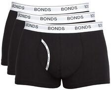 Bonds Men's Guyfront 3 Pack Mens Underwear Cotton Soft Elastane Blue M Black MZ963N33K