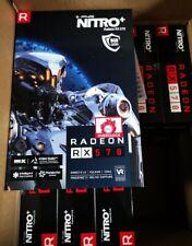 NEW SAPPHIRE RADEON RX 570 NITRO+ 8 GB VR GLOW DP HDMI DVI-D GRAPHICS OVERCLOCK