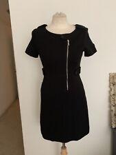 Karen Millen England Knit Asymetric Zip Dress Sz US 4