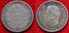 MONETA COIN MONNAIE FRANCIA EMPIRE FRANÇAIS 20 CENTIMES 1854 (A) ARGENTO SILVER