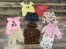 Gymboree Glamour Safari Shirt Top Shorts Jacket Giraffe Monkey Girls Guc Size 4t