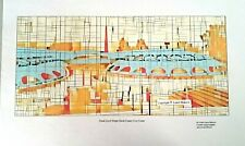 Frank Lloyd Wright Marin Civic Center Abstract Cubism signed number art print
