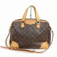 Authentic Louis Vuitton Hand Bag M40325 Retiro PM Browns Monogram 1106581