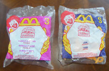 2 McDonald's Animal Kingdom Toys Lion / Gorilla & Baby
