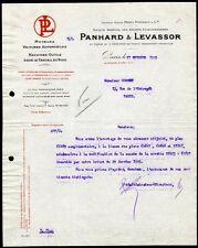█ Facture 1925 PANHARD et LEVASSOR Moteurs Voitures Automobiles Machines Outils