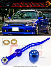 1988-2000 HONDA CIVIC BLUE DUAL BEND SHORT THROW SHIFTER+ JDM SHIFT KNOB COMBO