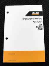 ORIG 2008 CASE 885 TIER 3 MOTOR GRADER OPERATORS MANUAL 173 PAGES VERY CLEAN