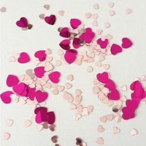 50g PVC Foil Hearts Throwing Confetti ♡ Table Sprinkles Hen Party Scatter Décor