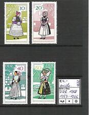 DDR 1968 Volkstrachten (III) MiNr. 1353 - 1356 postfrisch