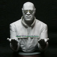 Unassembled 1/10 Scale The Matrix Captain Bust Model Unpainted Garage Kit Statue