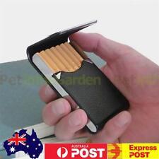 Pocket Cigarette Case Tobacco Cigar Storage Box Flip Top Holder Container Black