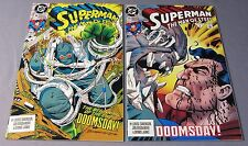 SUPERMAN: THE MAN OF STEEL #18, 19 (Doomsday 1st Full App) NM-  First Print 1992