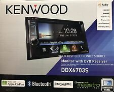 "NEW KENWOOD DDX6703S 6.2"" Touch Screen w/ Apple Carplay & HD Radio"