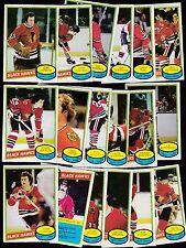 1980 OPC Team SET lot of 18 Chicago BLACK HAWKS NM o-pee-chee WILSON ESPOSITO