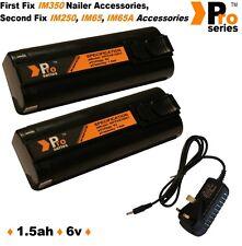2x remplacement des batteries 1.5 Ah chargeur secteur & IM350 / 350 + / 65 / 65 bis / 250. gaz nailer