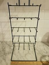 25 prong 5 Tier wire retail POS DISPLAY RACK black jewelry keychain holder