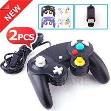 2x New Dual Shock Gamepad Joypad for Nintendo Wii GC NGC GameCube Controller