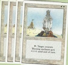 TCG MTG 91 Magic the Gathering 4th Edition Blessing PLAYSET (4)