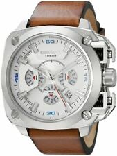 Men's Diesel Bamf Chronograph Leather Strap Watch DZ7357