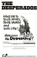 THE DESPERADOS pressbook, Vince Edwards, Jack Palance, Sylvia Syms -PLUS POSTER-