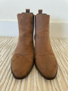Gap Suede Brown Ankle Boots Size 40