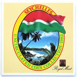 1982 Seychelles BU Uncirculated Coin Set Royal Mint 6 Coins