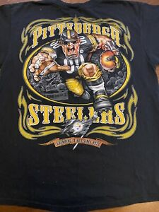 Vintage Pittsburgh Steelers T Shirt Large Mens Caricature NFL  RARE