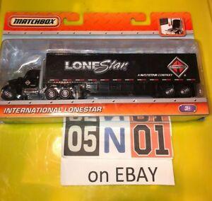 Matchbox International Lonestar & Box Trailer Metal Cab 2010 Larger Convoy Size