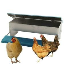 Automatic Chicken Fee Treadle Self Aluminum Feeder Feeding Trough 20.87 x 7.09