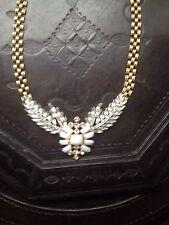 NWT LULU FROST for J.Crew Winged Glory Necklace Swarovski Crystals White JCREW