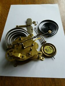 Vintage Antique Clock Parts and Movement from American Type Clock