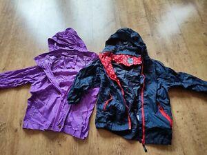 girls waterproof jacket bundle 5-6 (packable)
