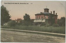Three Pines Brookville Indiana Vintage View Postcard Posted 1909