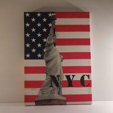 Statue liberty US NYC montage photographique imprimé sur toile monté cadre bois