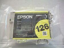 Genuine Epson DURABRITE Ultra 126 Yellow Standard Yield  Inkjet Cartridge SEALED