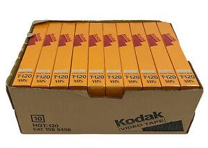 Kodak T-120 HS High Grade Video Cassette VHS Blank Tape Lot of 10 NEW SEALED!!